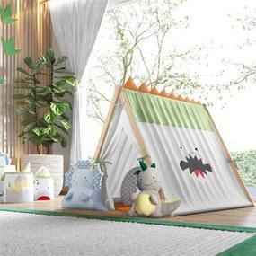 Cabana Infantil Menino Verde Amiguinhos Dino Grão de Gente Cinza
