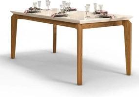 Mesa de Jantar Dália para 6 cadeiras 170cm Carvalho Nobre Off White