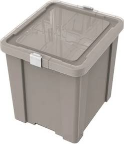 Caixa Laundry 42L concreto - Cor Cinza - Tramontina