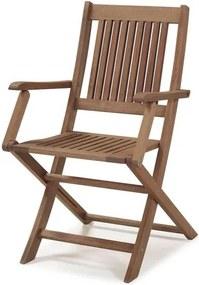 Cadeira Dobravel Primavera Com Bracos Stain Castanho - 34806 Sun House