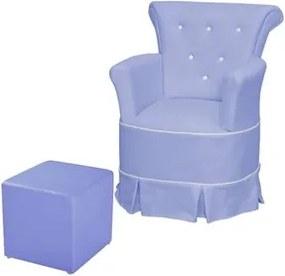 Poltrona de Amamentação com Balanço e Puff Bárbara Azul Royal - Phoenix