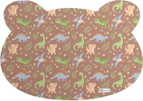Tapete PET Mdecore Urso Dinossauro Marrom54x39cm