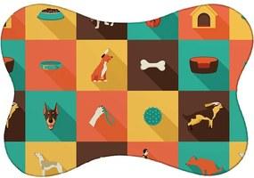 Tapete PET Mdecore Cachorro Colorido46x33cm