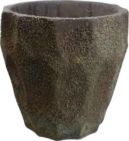 Vaso Kasa Ideia de Cimento Style Marrom