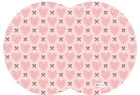 Tapete PET Mdecore Geométrico Coração Rosa 54x39cm