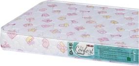 Colchão Para Berço Pro Confort Baby D18 Rosa Bordado 70X130X10 Hellen