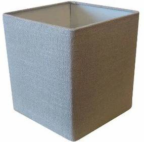 Cupula em Tecido Quadrada Abajur Luminaria Cp-4224 16/16x16cm Cinza