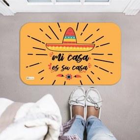 Tapete Decorativo Mostarda Mi Casa Es Su Casa Chapéu Mexicano40x60cm