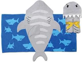 Toalha de Banho Stephen Joseph Tubarão Cinza