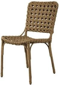 Cadeira Bell Assento em Fibra Sintetica cor Madeira com Base Aluminio - 44538 Sun House