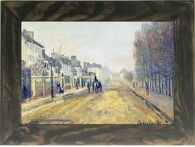 Quadro Decorativo A4 The Boulevard Heloise in Argenteuil - Claude Monet Cosi Dimora