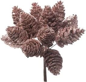 Pick Decoração Natal Pinhas 12Cm Rose