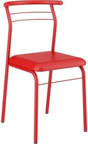 Kit 2 Cadeiras 1708 Napa Vermelho Real Carraro Móveis