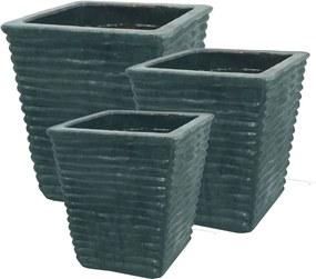 Vasos Vietnamitas Em Cerâmica Verde Jade