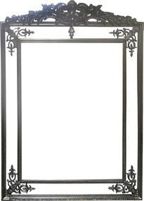 Espelho Clássico Provençal Prateado Retangular 198cm x 100cm