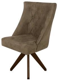 Cadeira Estofada Ellos Giratória - Wood Prime PP 35081