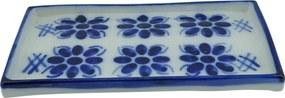 Petisqueira em Porcelana Azul Colonial 21x11 cm