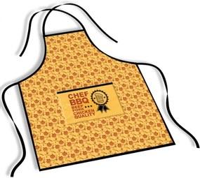 Avental Mdecore Chef BBQ AmareloÚnico