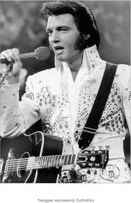 Poster Elvis Presley Com Macacão Branco (60x90cm, Apenas Impressão)