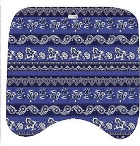 Jogo de Banheiro Abstrato Azul MarinhoÚnico