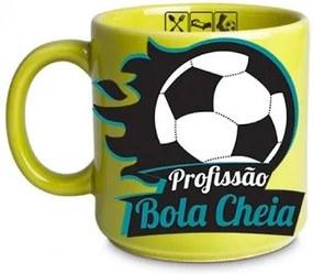 Caneca Futebol Profissão Jogador Bola Cheia Com Chaveiro