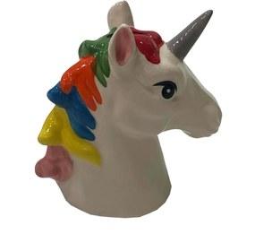 Cofre Ceramica Busto Unicornio Colorida Decora Infantil