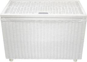 Cesto Bau Organizador fibra sintetica Design 70x40x48 Branco