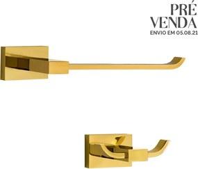 Kit de Acessórios para Lavabo (Mondrian Dourado)