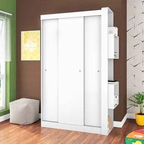 Guarda Roupa Infantil Doce Cheiro GR50 3 Portas Branco - Art in Móveis