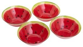 Jogo Bowls 4 Peças De Vidro Melancia 14,5cm 380ml 35415 Bon Gourmet