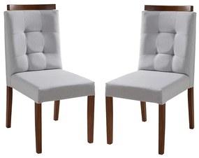 Conjunto 2 Cadeiras de Jantar Betel Com Aplique - Wood Prime MF 31985