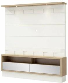 Home Belmonte com LED cor Off White com Carvalho 1,80 MT (LARG) - 60529 Sun House