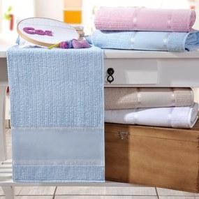 Toalha Lavabo Ponto Russo Azul Kit com 6 Unidades