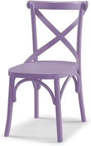 Cadeira Cenni em Madeira Maciça - Lilás