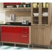 Cozinha Modulada Sicilia Argila Vermelho 05 Modulos Multimoveis