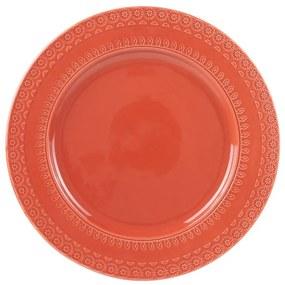 Jogo Prato Raso Porcelana 6 Peças Grace Carmim 27cm 17581 Wolff