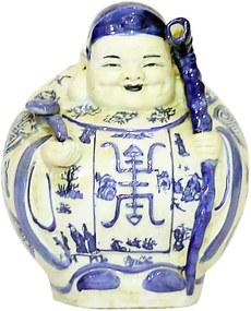 Estatueta Deus Longevidade em Porcelana Jovem
