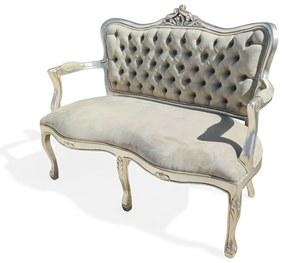 Namoradeira Luis XV Madeira Maciça Design de Luxo Peça Artesanal
