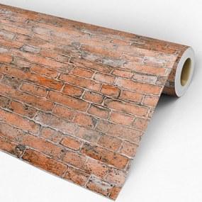 Papel de parede adesivo tijolo manchado