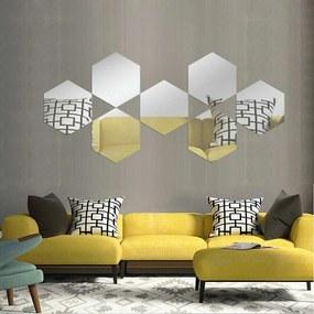 Espelho Love Decor Decorativo Colmeia Único