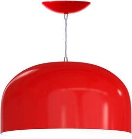 Pendente Meia Esfera de 55 Cm (vermelho / Branco)