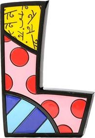 Letra Decorativa Letter L - Romero Britto - em Resina - 16x10 cm