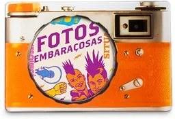 Porta Retrato Câmera Laranja