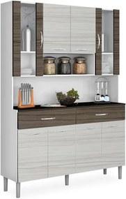 Kit de Cozinha Compacta, Branco com Rovere e Dubai, Athenas