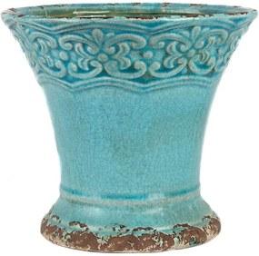 Cachepot Ceramica Turquesa