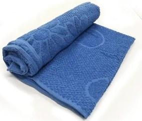 Toalha De Banho Luxo  Cor Azul 68cm X 1,28m
