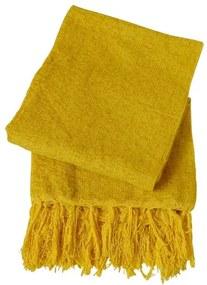 Xale De Sofá De Tear Em Chenile 1,80 X 1,20 Amarelo