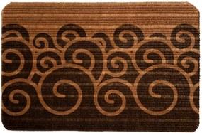Capacho Carpet Ondas Marrom Único Love Decor