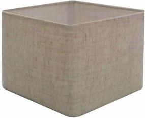 Cúpula em Tecido Quadrada Abajur Luminária Cp-4077 30/50x50cm Rustico Bege