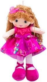 Boneco Minas de Presentes Cabelo Encaracolado Pink